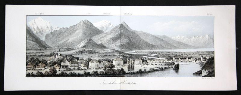 Interlaken Untersee Bodensee Schweiz Suisse  Ansicht vue Panorama 1840 Cuvillier