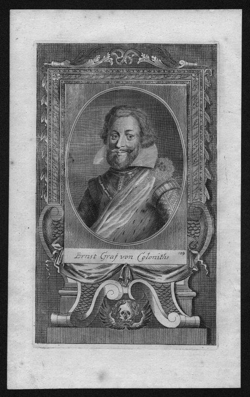 1720 - Ernst Graf von Kollonitsch Freiherr engraving Kupferstich Portrait