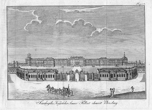 1800 - St. Petersburg Russia Kupferstich engraving