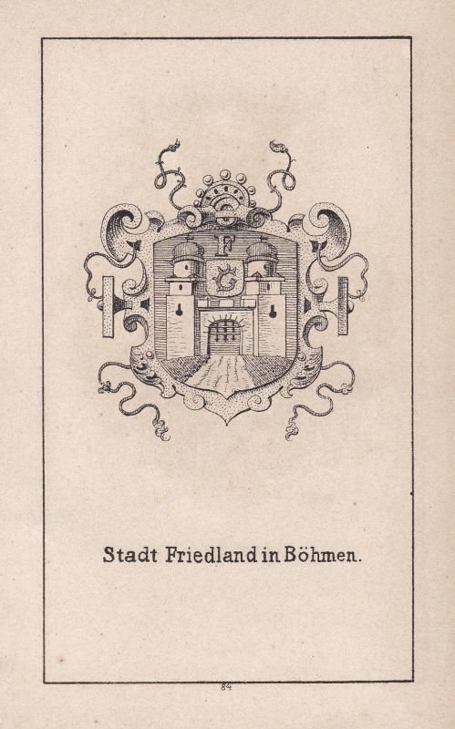 Frýdlant Friedland Böhmen Bohemia Tschechien Wappen Heraldik coat of arms Adel