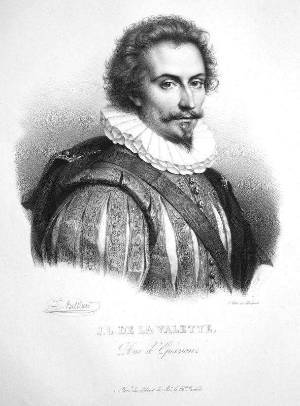 1860 Jean-Louis de Nogaret von Valletta soldier Soldat soldat Belliard Portrait