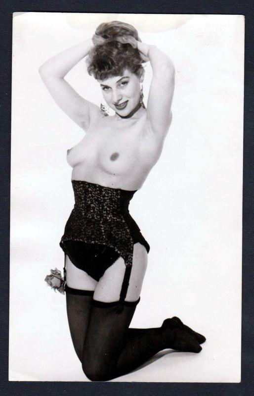 1960 Rose Busen Unterwäsche lingerie Erotik nude vintage Dessous photo Foto