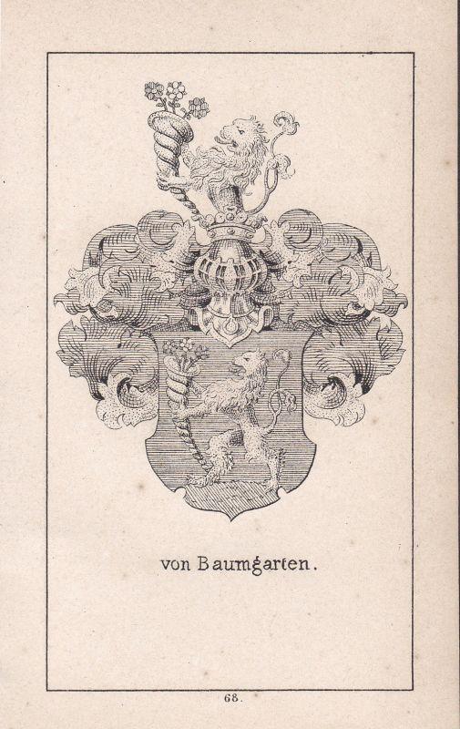 Ca. 1840 Baumgarten Bayern Bavaria Wappen heraldry Heraldik coat of arms Adel