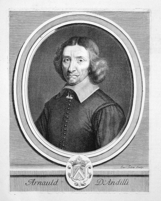 Robert Arnauld von Andilly poet Dichter poète Portrait Kupferstich engraving