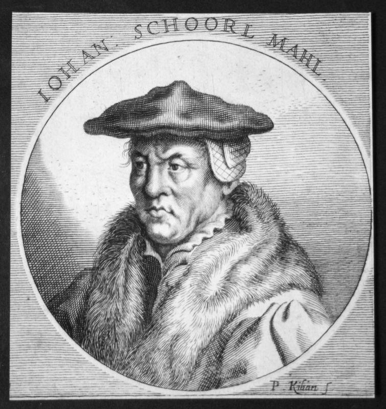 Jan van Scorel Niederlande Schoorl Maler painter Kupferstich etching Portrait