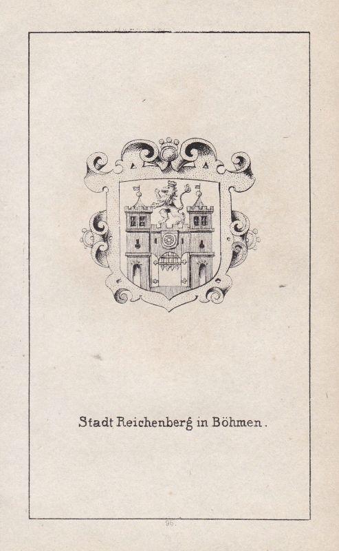 1840 Böhmen Bohemia Reichenberg Liberec Wappen Heraldik coat of arms Adel