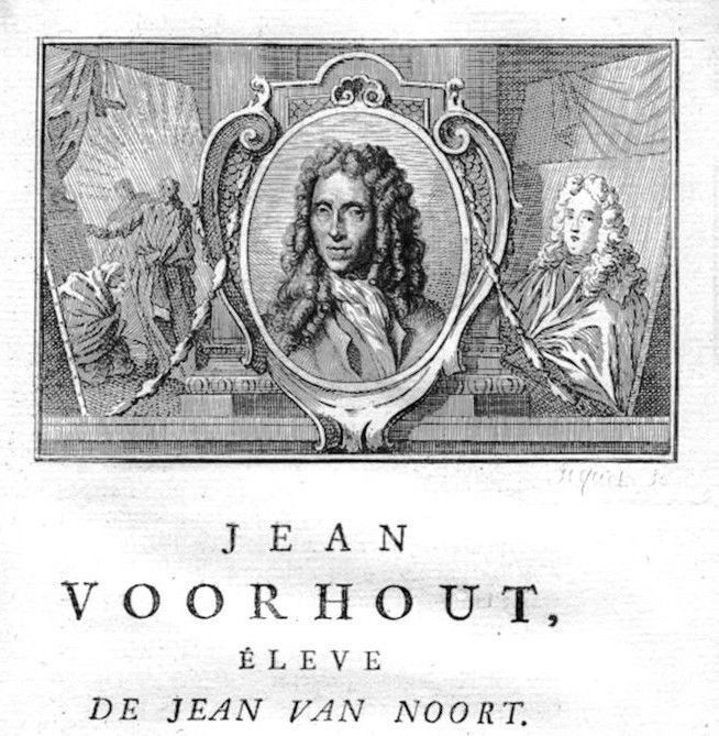 1750 - Johannes Voorhout painter Maler Portrait Kupferstich gravure engraving