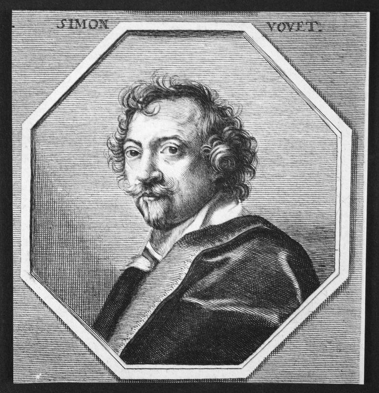 Simon Vouet Frankreich France Maler painter Kupferstich etching Portrait
