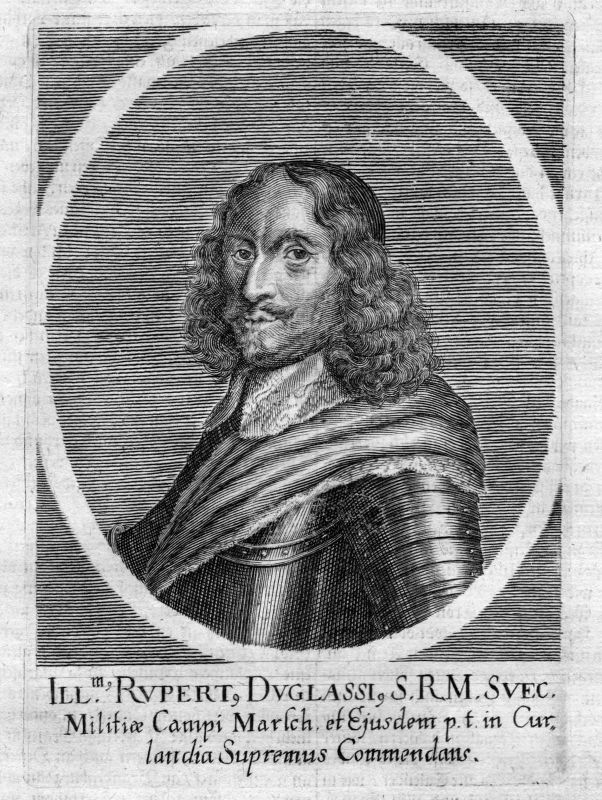 Um 1700 Robert Douglas Count of Skenninge Portrait Kupferstich antique print