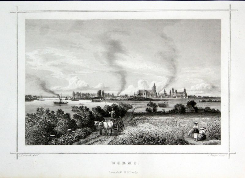 1850 Worms Stahlstich