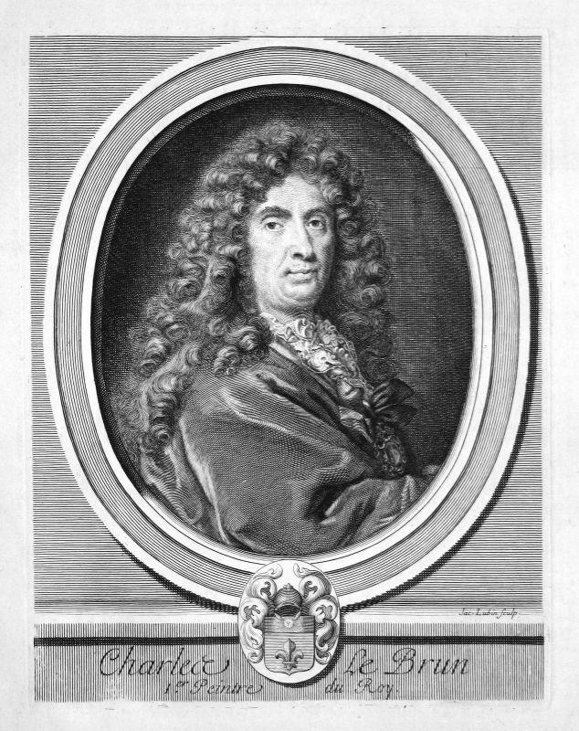 Charles Le Brun Maler painter peintre France Portrait Kupferstich engraving