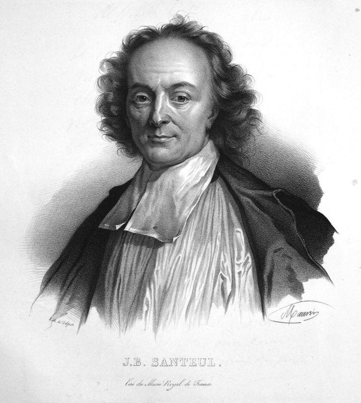 1860 Jean-Baptiste de Santeul Dichter poète poet Lithographie Maurin Portrait