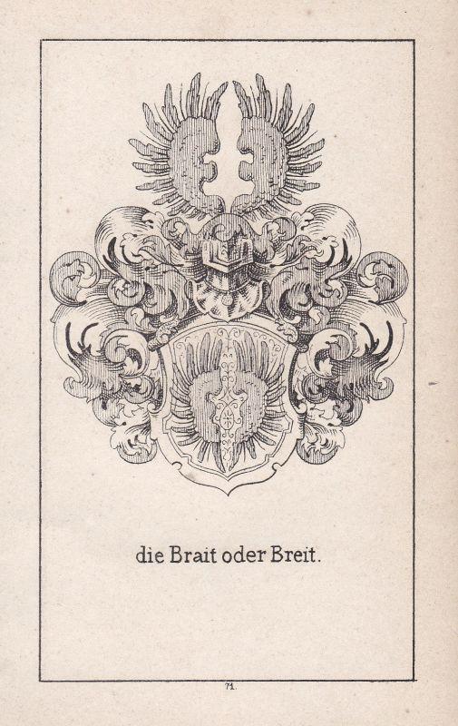 Ca. 1840 Brait Breit Rheinland-Pfalz Wappen heraldry Heraldik coat of arms Adel