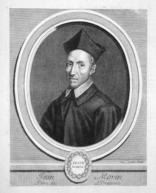 Jean Morin Theologe theologian théologien Portrait Kupferstich engraving