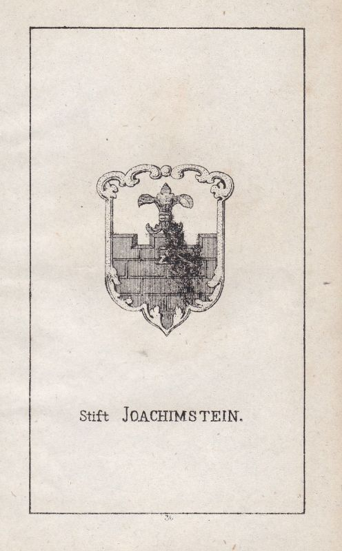 1840 Stift Joachimstein Polen Poland Polska Wappen Heraldik coat of arms Adel