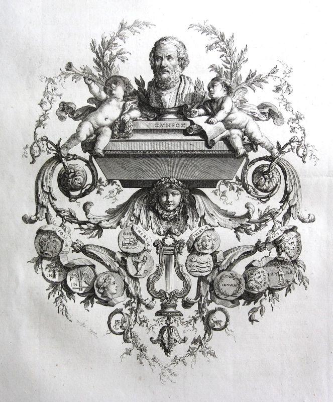 1778 Medaille medals Statue Engel angel Kupferstich antique print 156871