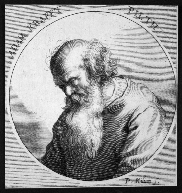 Adam Kraft Bildhauer sculptor Baumeister builder Kupferstich etching Portrait