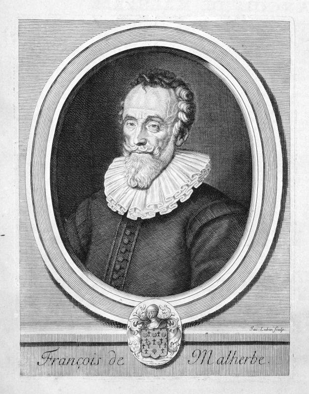 François Malherbe Schriftsteller writer écrivain Portrait Kupferstich engraving