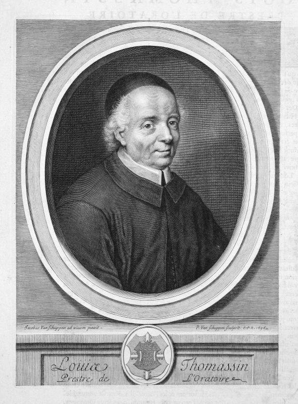 Louis Thomassin Philosoph philosopher philosophe Portrait Kupferstich engraving