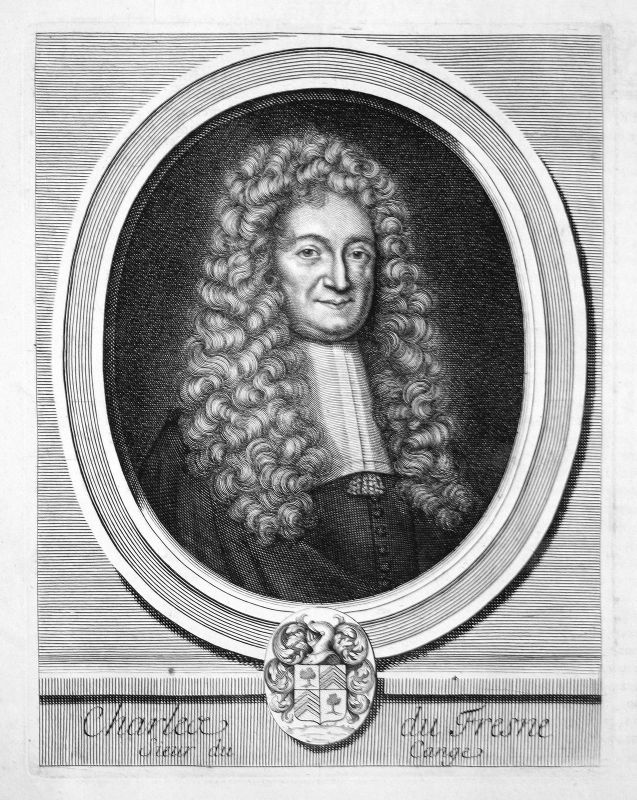 Charles du FresneJurist jurist avocat Portrait Kupferstich engraving