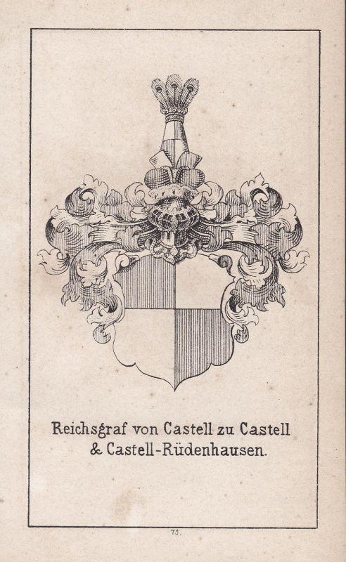 Rüdenhausen Castell Bayern Bavaria Wappen heraldry Heraldik coat of arms Adel