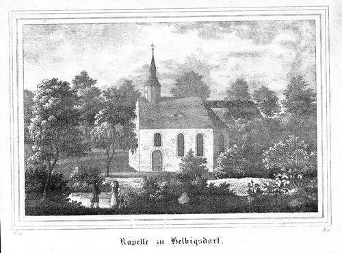 1840 - Helbigsdorf Wilsdruff Original Lithographie lithograph
