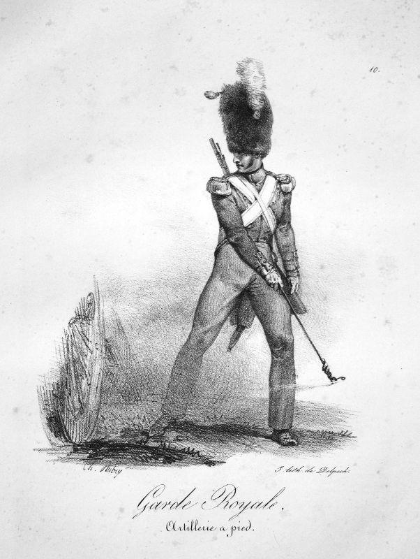Artillerie a pied Soldat Frankreich France Uniformen uniformes Militaria 1820