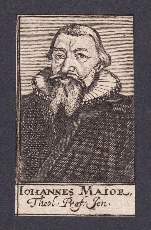 17. Jh. Johannes Major / theologian Theologe Jena Portrait Kupferstich 0