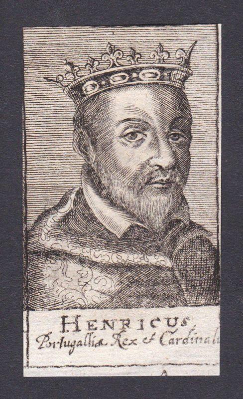 17. Jh. Heinrich I. / king König Portugal Portrait Kupferstich