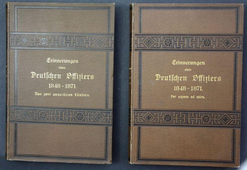 1885 Hartmann Erinnerungen e. deutschen Offiziers Militaria Memoiren Geschichte
