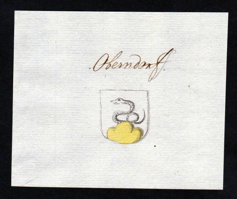 18. Jh. Oberndorf Wappen Handschrift manuscript Manuskript coat of arms