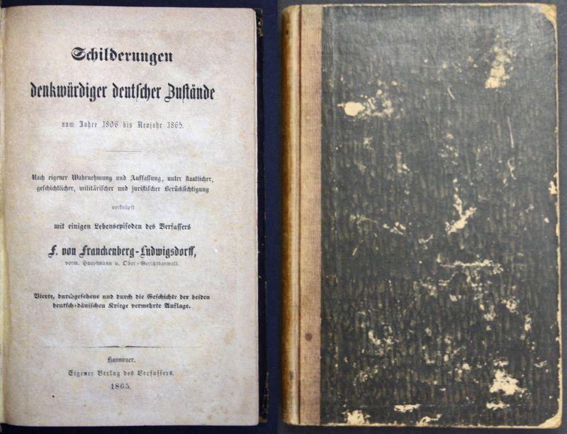 1865 Frankenberg, F. Schilderungen Denkwürdiger Deutscher Zustände Geschichte