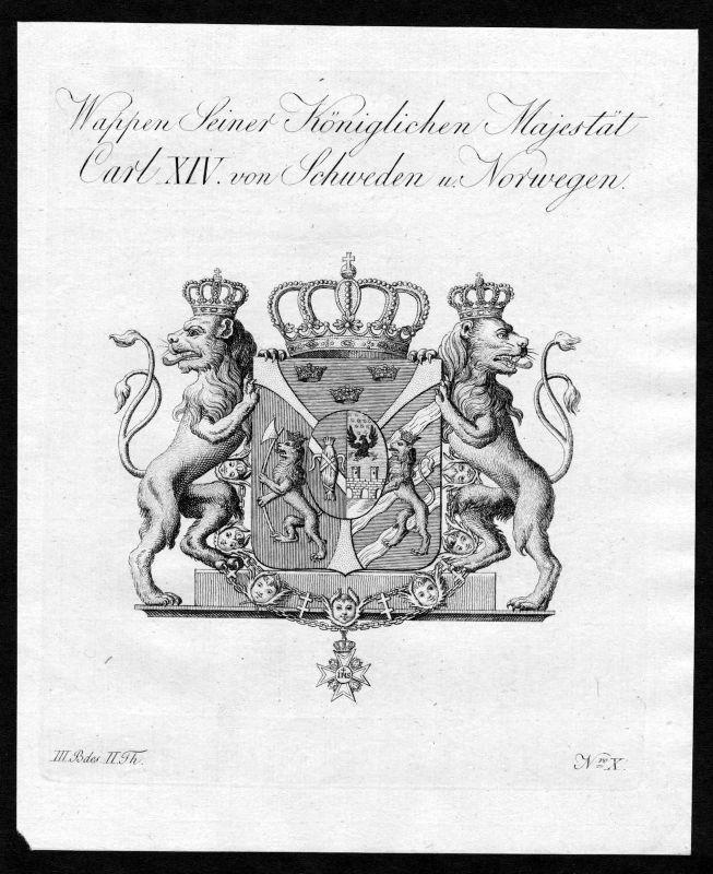 1790 Schweden Norwegen Sweden Norway Wappen Adel coat of arms heraldry Heraldik