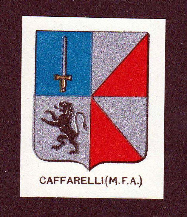 Ca. 1880 Caffarelli Wappen Adel coat of arms heraldry Lithographie antiqu 146171