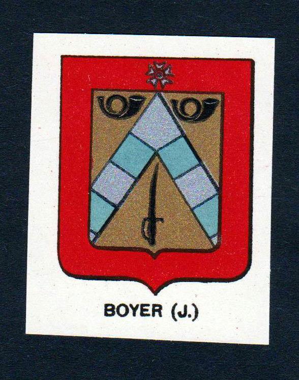 Ca. 1880 Boyer Wappen Adel coat of arms heraldry Lithographie antique pri 146108