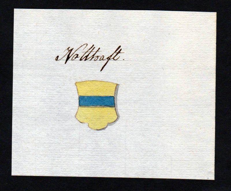 18. Jh. Notthafft Adel Handschrift Manuskript Wappen manuscript coat of arms
