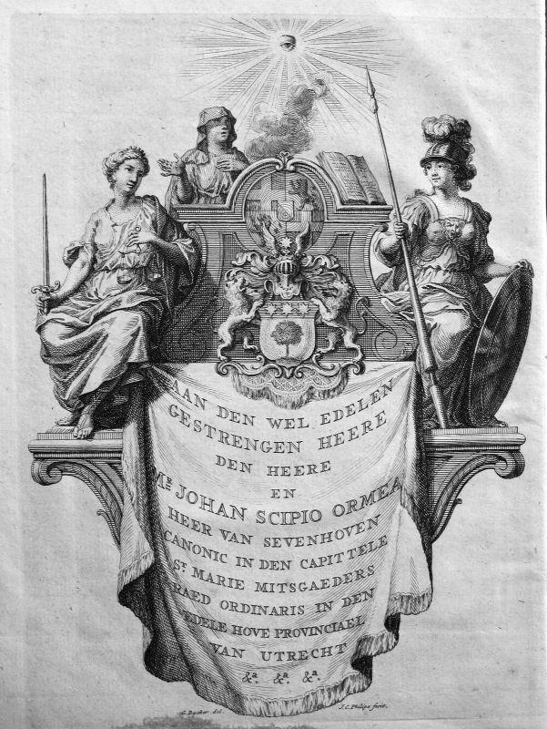 1750 Titelblatt Titel title page Scipio Ormea Kupferstich antique print Philips