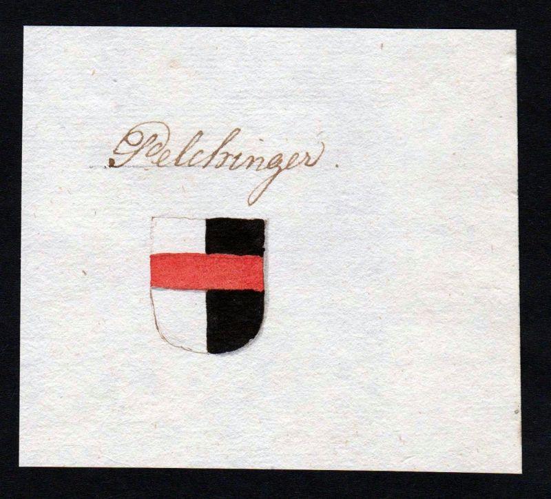 18. Jh. Pelchinger Handschrift Manuskript Wappen manuscript coat of arms 0