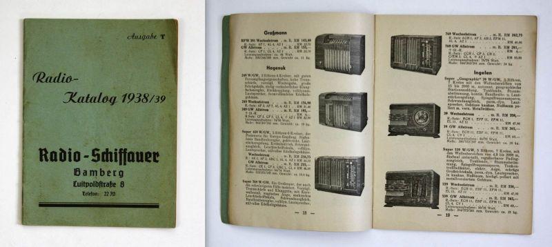 Radio-Katalog 1938/39 Radio - Schiffauer Radio Radios Technik Katalog Geräte 0