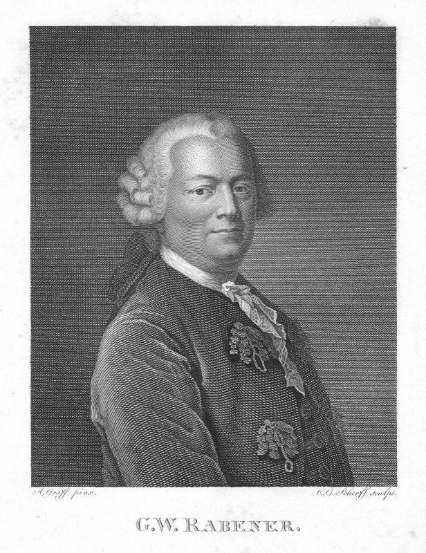 Ca. 1820 Gottlieb Wilhelm Rabener Schriftsteller Dresden Portrait Graff Scherff 0