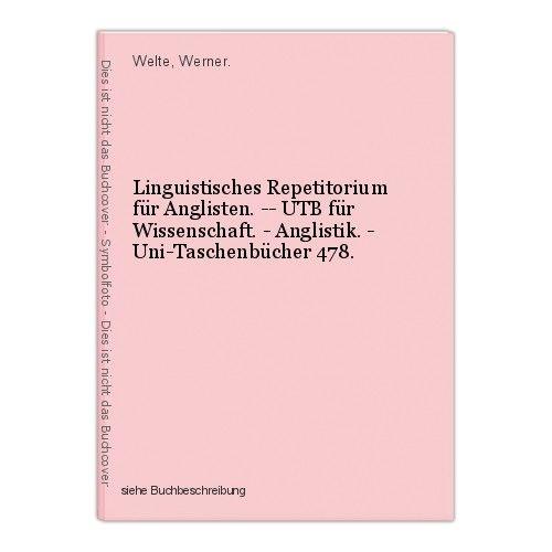 Linguistisches Repetitorium für Anglisten. -- UTB für Wissenschaft. - Anglistik.