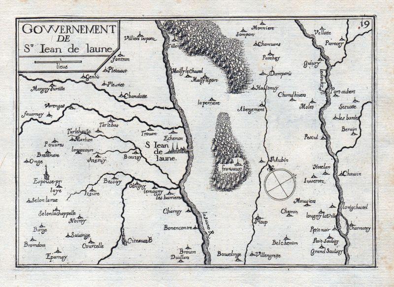 1630 Cote d'Or Burgund Bourgogne France gravure estampe Kupferstich Tassin