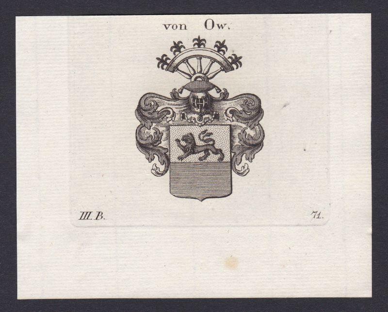 1820 Ow Schwaben Wappen Adel coat of arms Heraldik Kupferstich antique print 0
