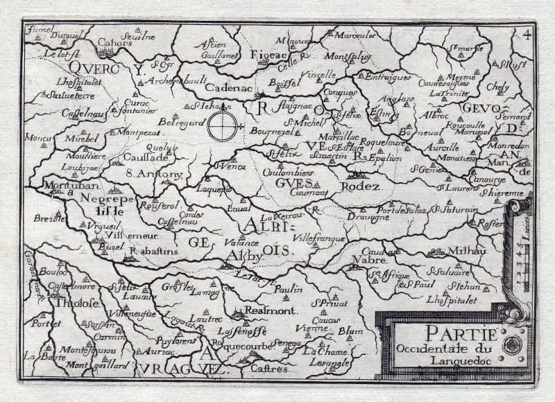 Languedoc-Roussillon Rhone-Alpes Midi-Pyrenees France gravure estampe Tassin