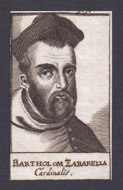 17. Jh. Bartolomeo Zabarella / bishop Bischof Padua Italien Portrait Kupferstich