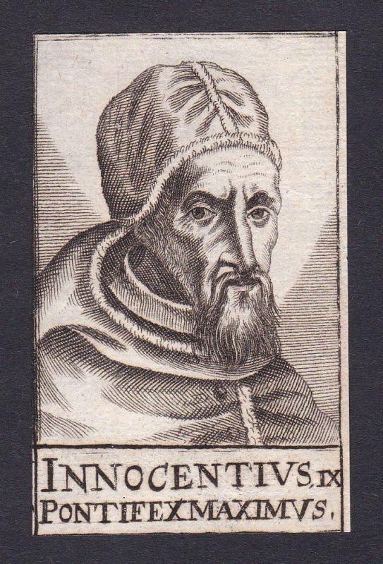 17. Jh. Innozenz IX. / pope Papst Bologna Italien Italy Portrait Kupferstich 0