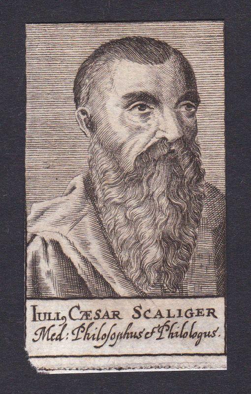 Julius Caesar Scaliger humanist Humanist Italien Italy Portrait Kupferstich 0