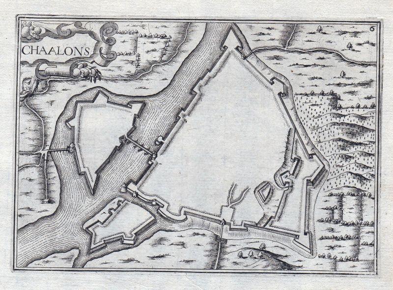 1630 Chalons Chalon Frankreich France gravure estampe Kupferstich Tassin