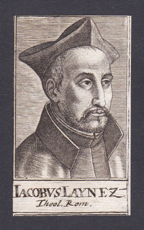 17. Jh. Jacobus Lainez / theologian Theologe Rom Portrait Kupferstich