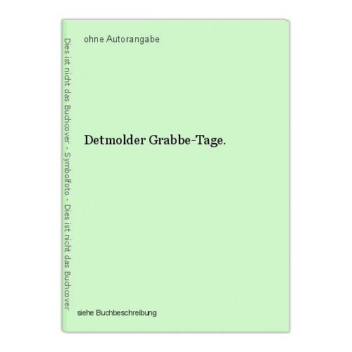 Detmolder Grabbe-Tage. 0